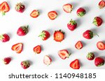 flat lay composition with ripe... | Shutterstock . vector #1140948185