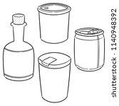 vector set of beverage | Shutterstock .eps vector #1140948392