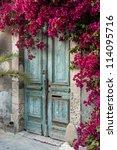 old wooden door with... | Shutterstock . vector #114095716