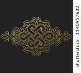traditional buddhist symbol of... | Shutterstock .eps vector #1140957632