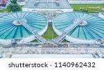 aerial top view recirculation... | Shutterstock . vector #1140962432