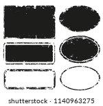 grunge post stamps.vector... | Shutterstock .eps vector #1140963275