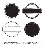 grunge post stamps.vector... | Shutterstock .eps vector #1140963278