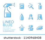 lineo blue   cleaning and... | Shutterstock .eps vector #1140968408