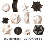 decor figures  geometric and... | Shutterstock . vector #1140970658