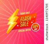 flash sale banner template... | Shutterstock .eps vector #1140971705