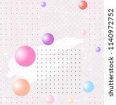 seamless pattern. white brush... | Shutterstock .eps vector #1140972752