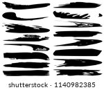 collection of artistic grungy... | Shutterstock . vector #1140982385