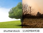 the concept of climate has... | Shutterstock . vector #1140984938