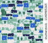 a seamless camouflage pattern... | Shutterstock .eps vector #1140985265