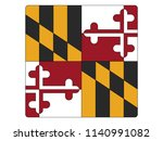 maryland square flag | Shutterstock .eps vector #1140991082