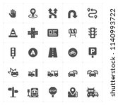 icon set   traffic and accident ... | Shutterstock .eps vector #1140993722