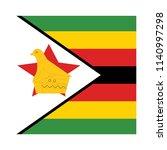 zimbabwe flag vector square... | Shutterstock .eps vector #1140997298