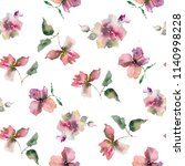 seamless floral pattern.... | Shutterstock . vector #1140998228