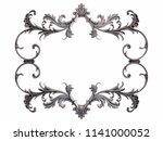 chrome ornament on a white... | Shutterstock . vector #1141000052