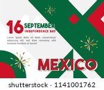 16 september   celebrating... | Shutterstock .eps vector #1141001762