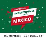 16 september   celebrating... | Shutterstock .eps vector #1141001765