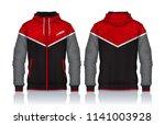hoodie shirts template.jacket...   Shutterstock .eps vector #1141003928