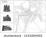podgorica city map with hand... | Shutterstock .eps vector #1141004402