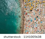 aerial view from flying drone... | Shutterstock . vector #1141005638