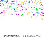 red violet green yellow glossy... | Shutterstock .eps vector #1141006748