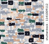 a seamless camouflage pattern... | Shutterstock .eps vector #1141009112