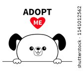 adopt me. dont buy. dog face... | Shutterstock .eps vector #1141012562