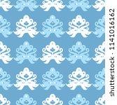 ethnic boho seamless pattern.... | Shutterstock .eps vector #1141016162