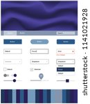 dark pink  blue vector web ui...