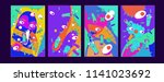 abstract colorful liquid and...   Shutterstock .eps vector #1141023692