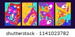 abstract colorful liquid and...   Shutterstock .eps vector #1141023782