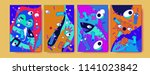 abstract colorful liquid and...   Shutterstock .eps vector #1141023842