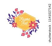 floral logo with frame original ...   Shutterstock .eps vector #1141027142