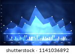 financial stock market  graph.... | Shutterstock . vector #1141036892