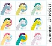 dinosaur   salvador dali....   Shutterstock .eps vector #1141040315