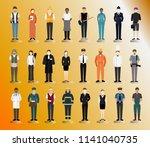 people doing outdoor... | Shutterstock .eps vector #1141040735