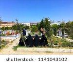 kavakli yeni  new  cemetery ... | Shutterstock . vector #1141043102