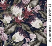 seamless floral pattern with... | Shutterstock . vector #1141049438