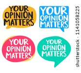 your opinion matters. set of... | Shutterstock .eps vector #1141058225