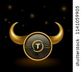 trueusd cryptocurrency coin... | Shutterstock .eps vector #1141059905