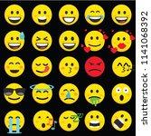 set of emoticons. set of emoji. ... | Shutterstock .eps vector #1141068392