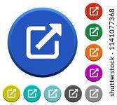 external link round color... | Shutterstock .eps vector #1141077368