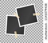 vector mock up of empty photo... | Shutterstock .eps vector #1141079438