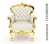 3d king's throne  royal chair... | Shutterstock . vector #1141080248