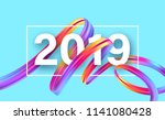2019 new year on the background ... | Shutterstock .eps vector #1141080428