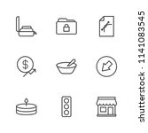 modern simple vector icon set.... | Shutterstock .eps vector #1141083545