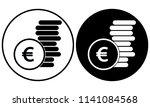 euro coin icon   Shutterstock .eps vector #1141084568