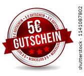 5 euro coupon button   online... | Shutterstock .eps vector #1141087802