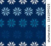 winter holiday seamless knitted ... | Shutterstock .eps vector #1141099325