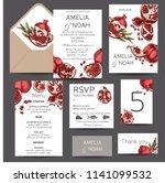 wedding invitation card...   Shutterstock .eps vector #1141099532